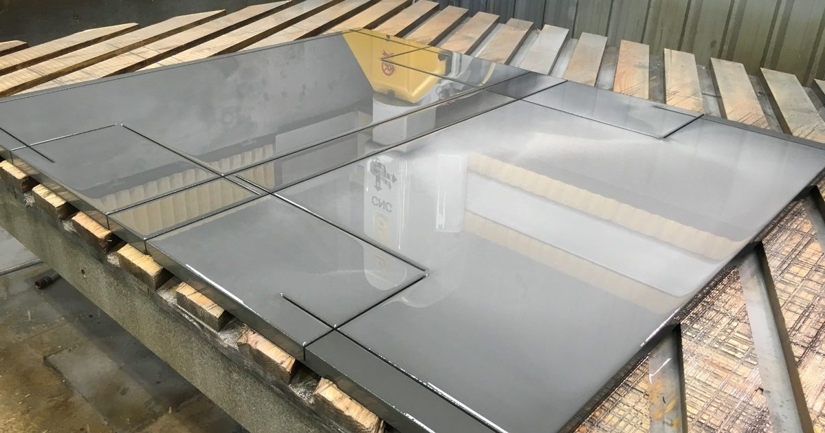 Natural edge SLATE Hearth cut to size and shape you require SAMPLE