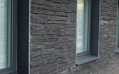 Welsh Slate Pillered Walling