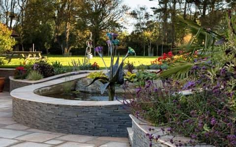 Welsh Slate Garden Walling 1