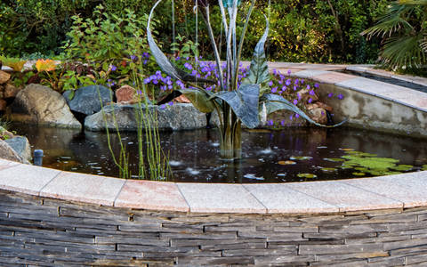 Welsh Slate Garden Walling