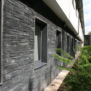 Welsh slate walling