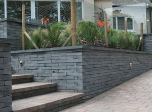 Specified Welsh slate walling