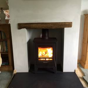 Mont Black Cleft Slate Hearth 1