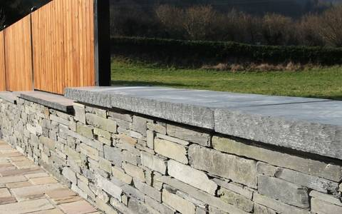 Chipped Edge Welsh Slate Coping