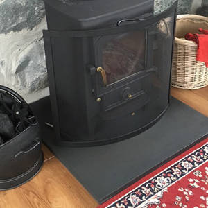 Smooth Fine rubbed slate hearth
