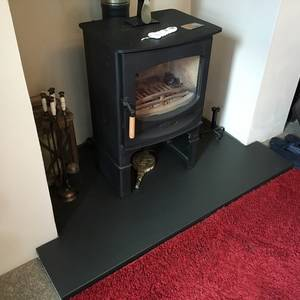 Tee Shaped Slate Hearth